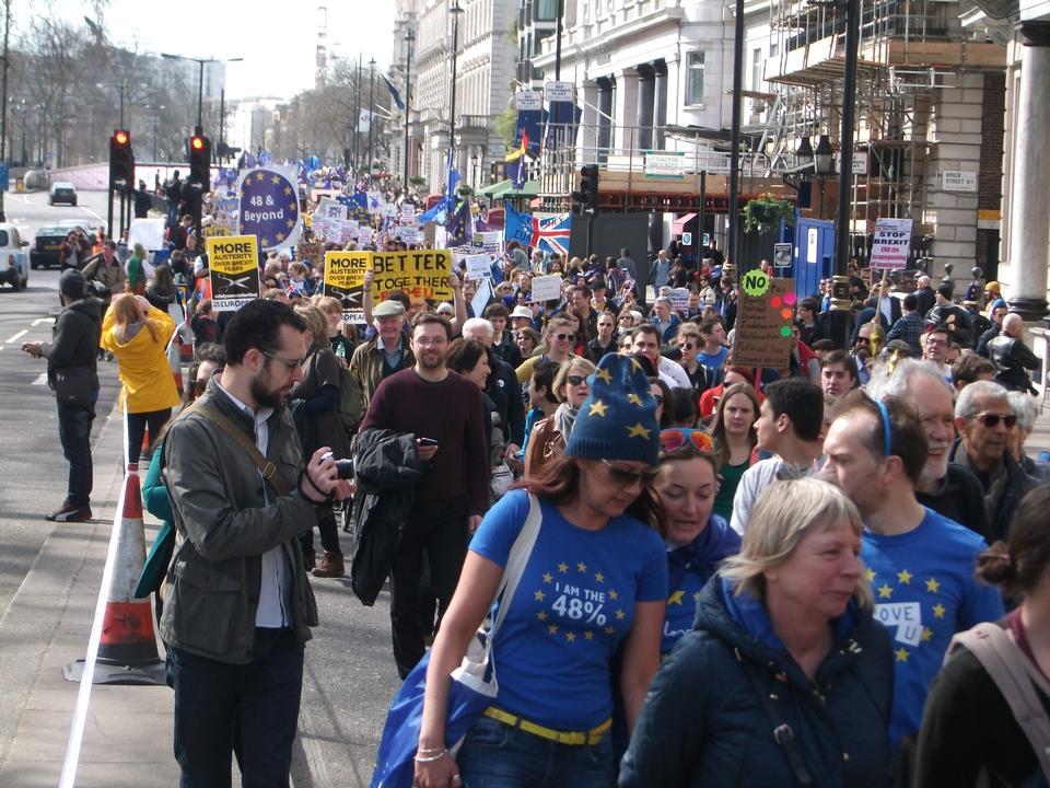 反英国脱欧抗议活动,英国伦敦