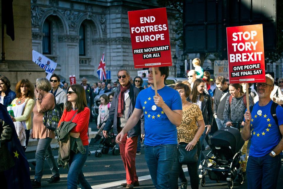反英國脫歐抗議活動,英國倫敦