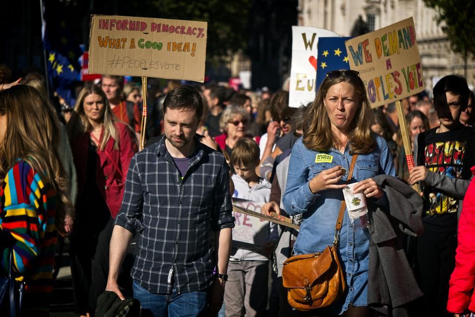Anti-Brexit protest, London, UK