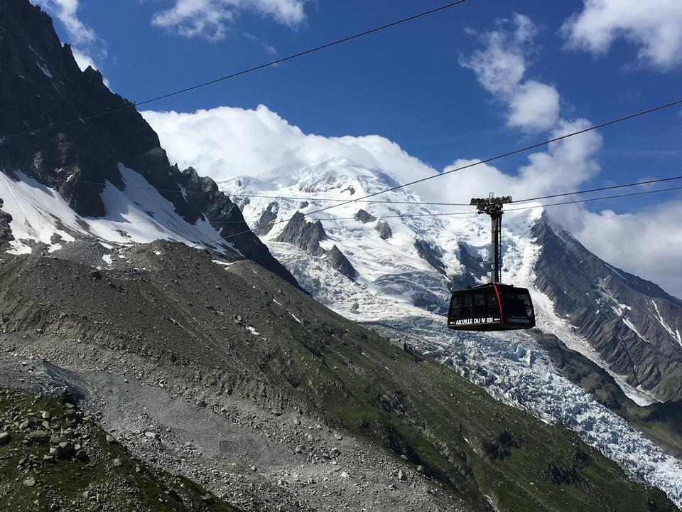 Cable Car of the Mont Blanc massif and Chamonix