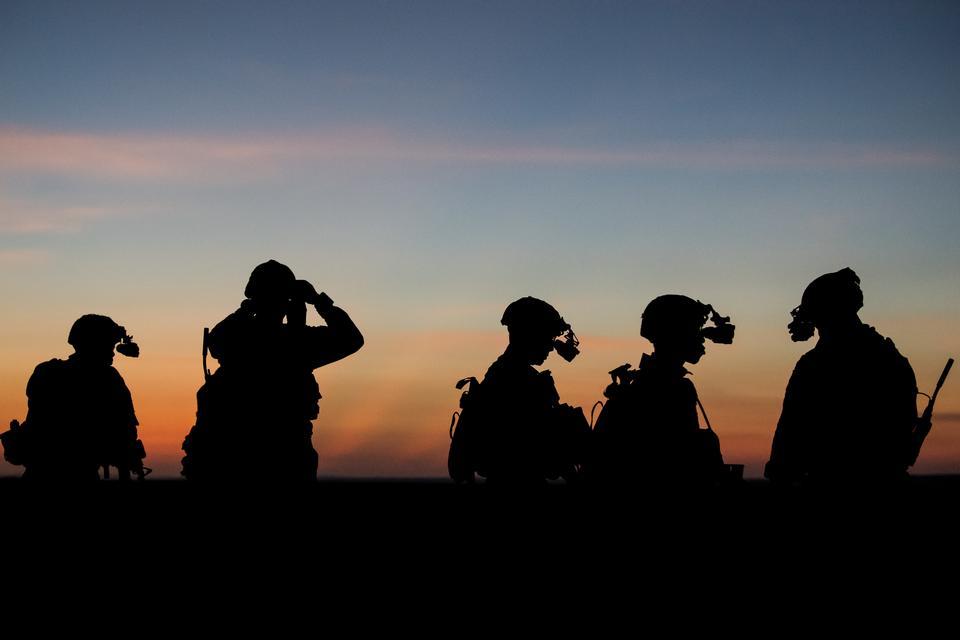 Soldaten Nachtsichttraining