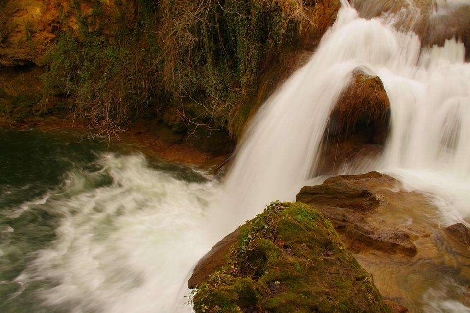 The Caramy Falls in Carces in Provence, France
