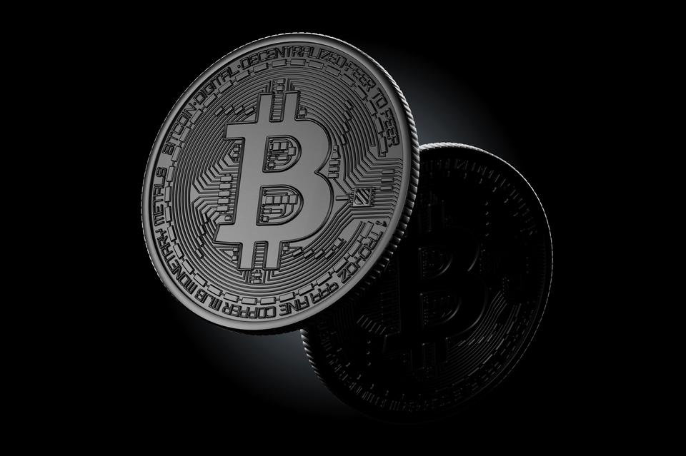 Dunkle Bitcoin-Münzen