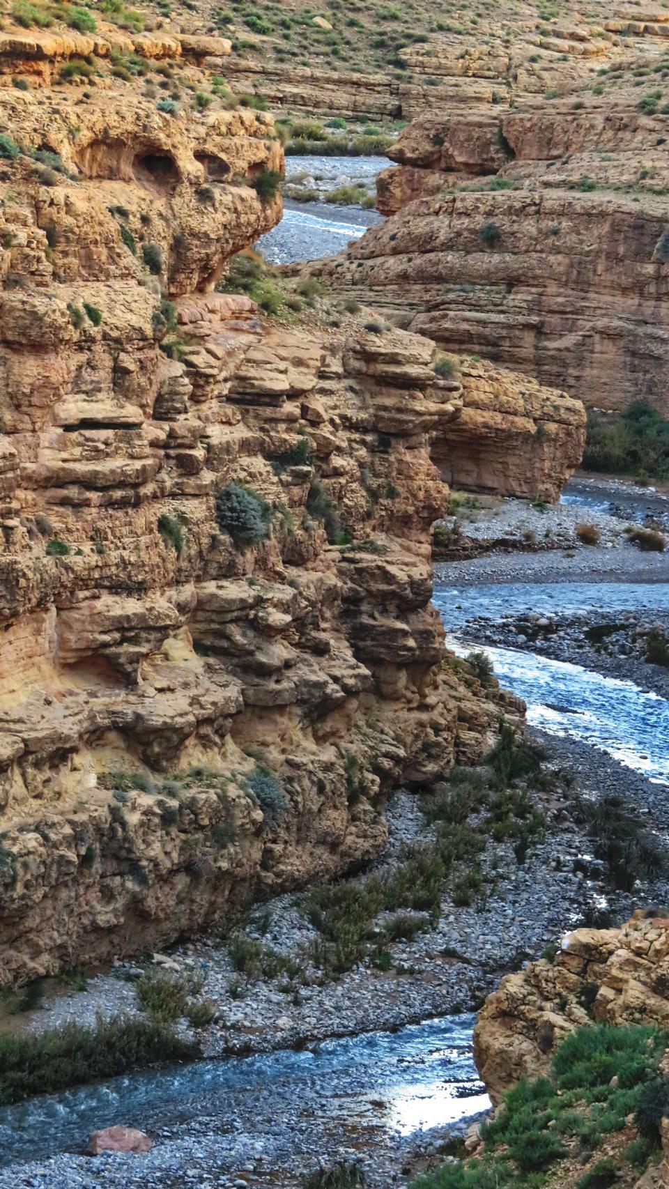 ウニラ渓谷の風景。モロッコ