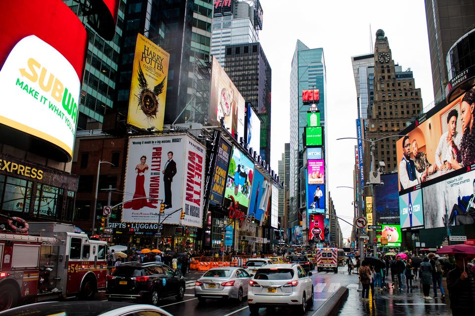 Times Square, featured with Broadway