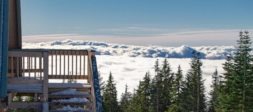 Winter at Grouse Mountain, Vancouver, BC