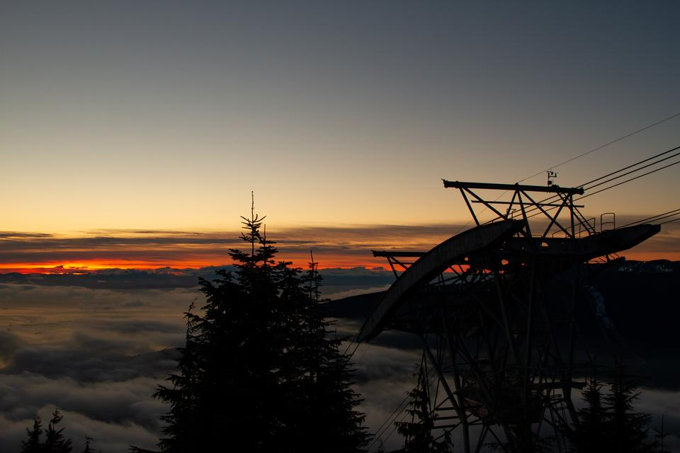 Tramonto a Grouse Mountain, Vancouver, BC