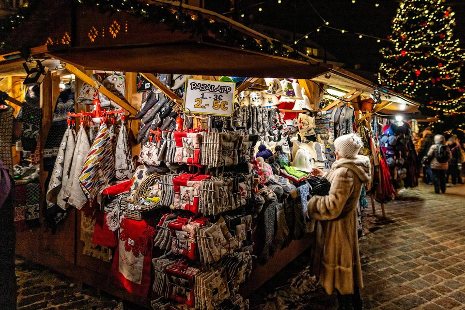 Mulher, shopping, tradicional, natal, mercado