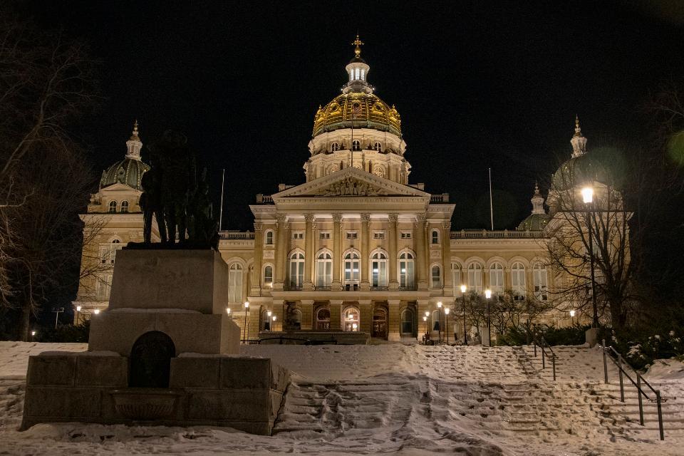 State Capitol in Des Moines, Iowa. U.S.