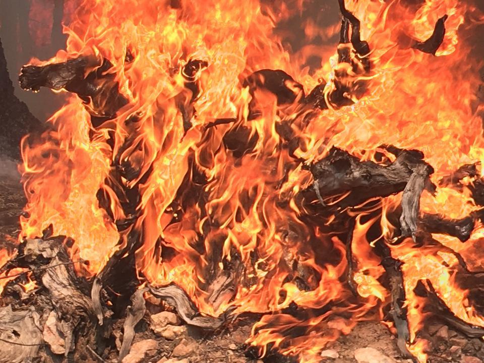 北カイバブでの火災