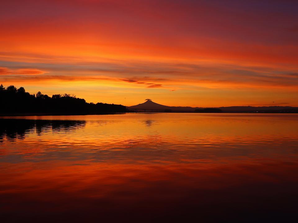 Sunrise at Columbia River