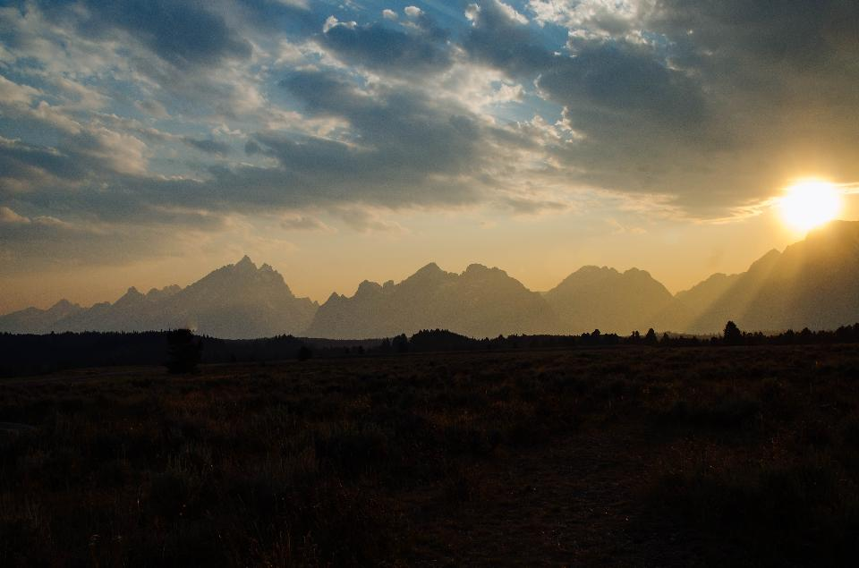 Amazing Sunrise in Grand Teton National Park