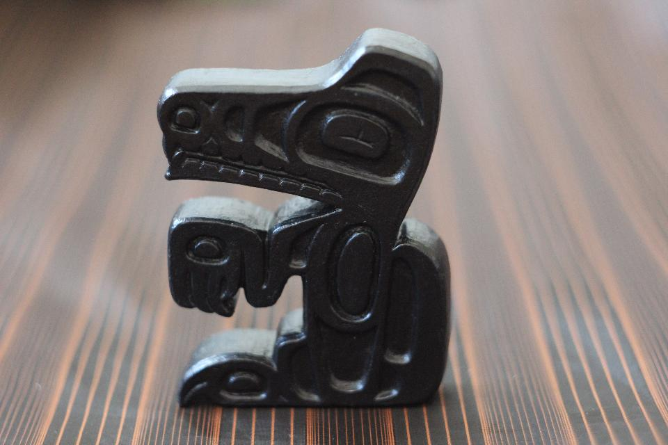 Haida wolf art sculpture