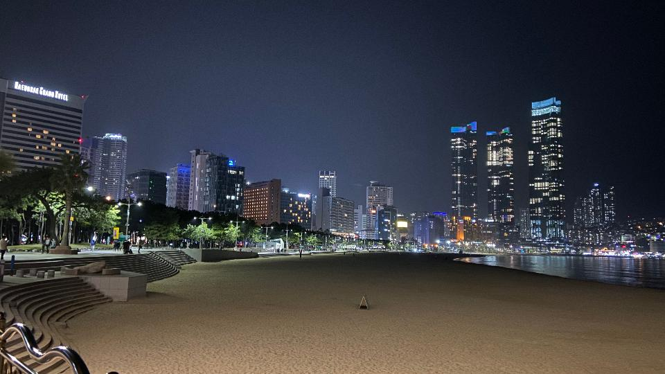 Nightscape Haeundae Beach in Busan South Korea