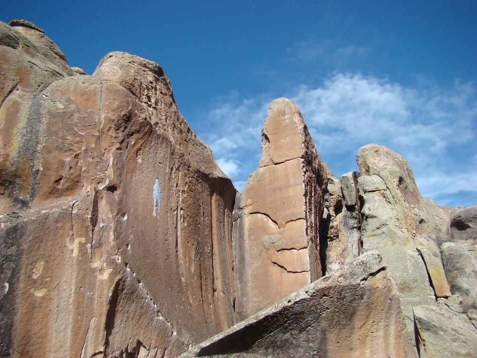 The pinnacles of Penitente Canyon