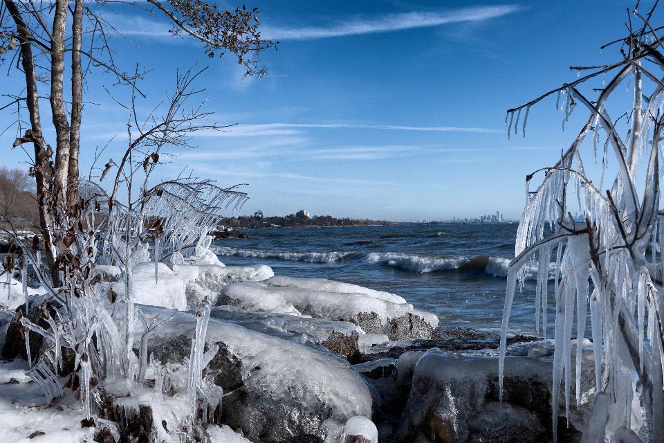 安大略湖密西沙加的达令公园