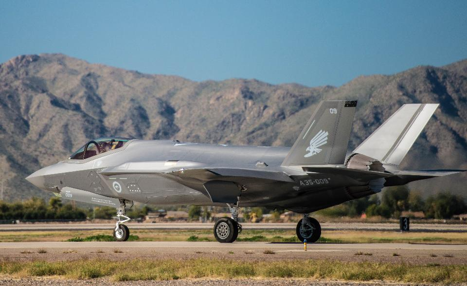 A Royal Australian Air Force F-35A Lightning II