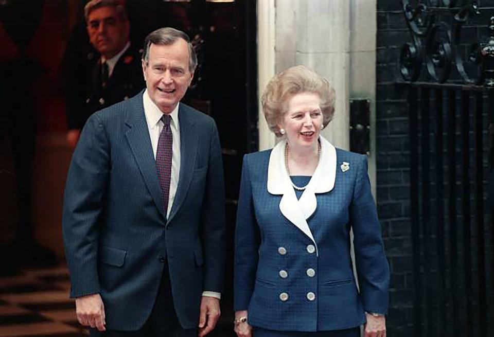 Джордж Буш и Маргарет Тэтчер