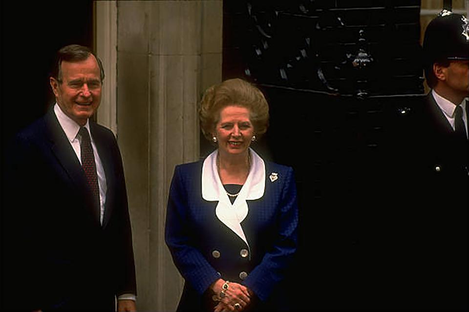George Bush and Margaret Thatcher