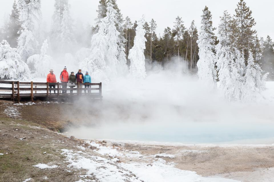 Group takes in the views of Silex Spring