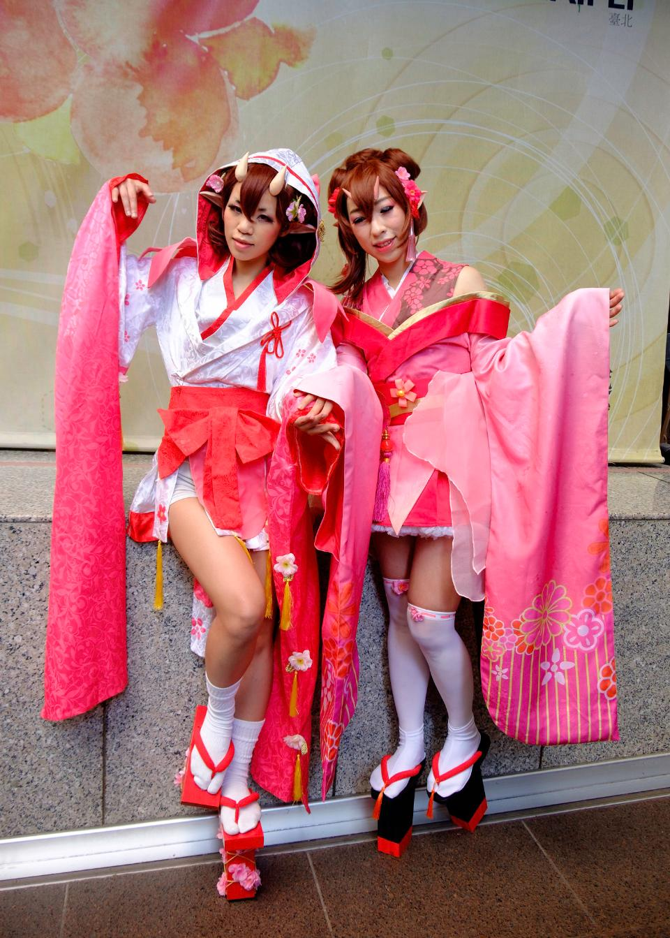 Anime cosplay Costume cute asian Woman
