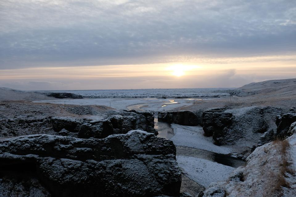 Thingvellir國家公園在冬天,冰島