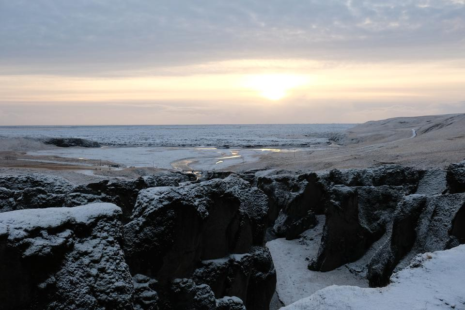 Thingvellir National Park in winter, Iceland