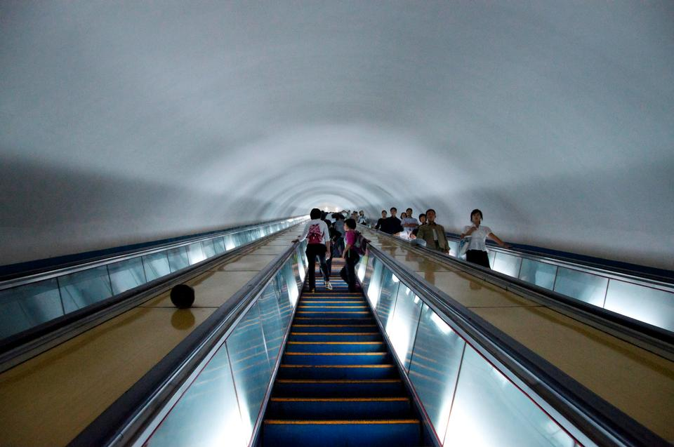 The Puhung subway station on a working day