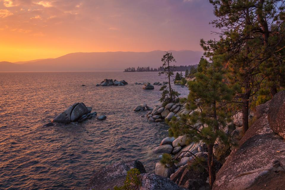 Lake Tahoe Sunset, California
