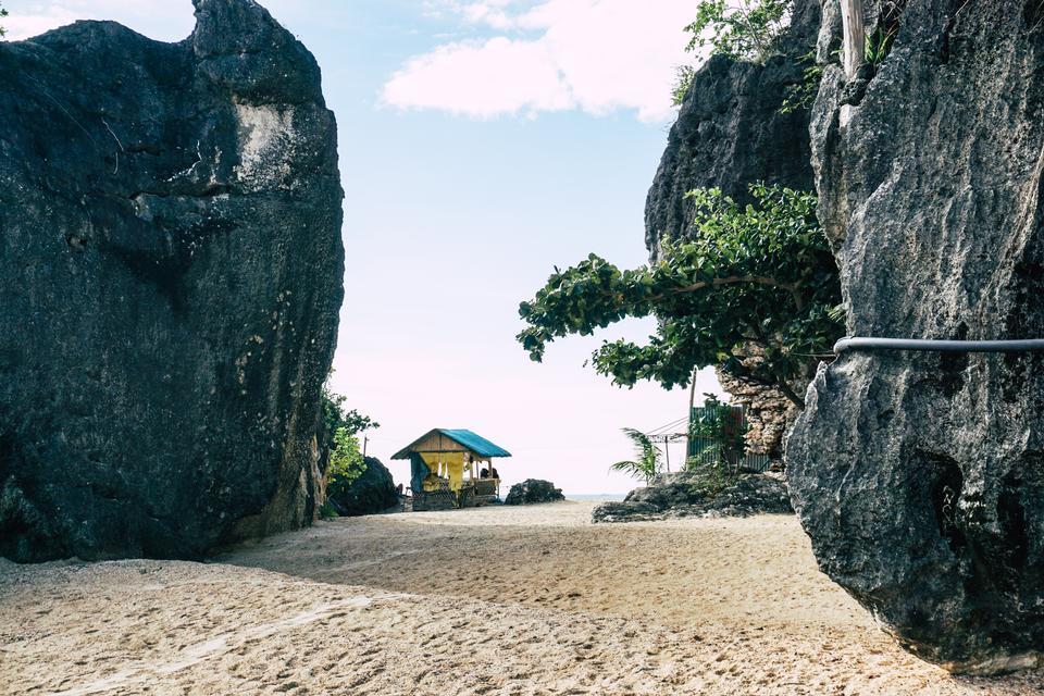 L'île de Borawan dans la province de Quezon