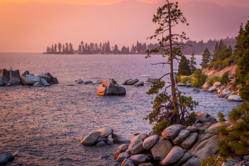 레이크 타호 일몰, 캘리포니아