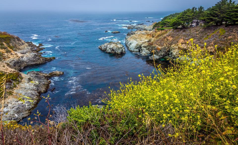 美しいカリフォルニアの海岸 - ビッグサー、モントレー郡、カリフォルニア州