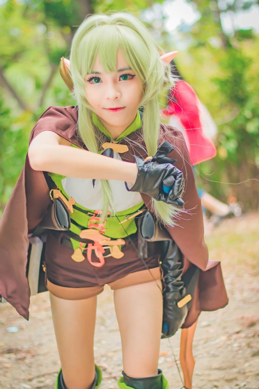 Portrait of Japan anime cosplay woman