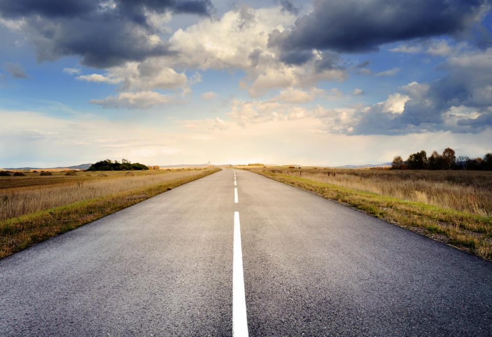 un camino ancho