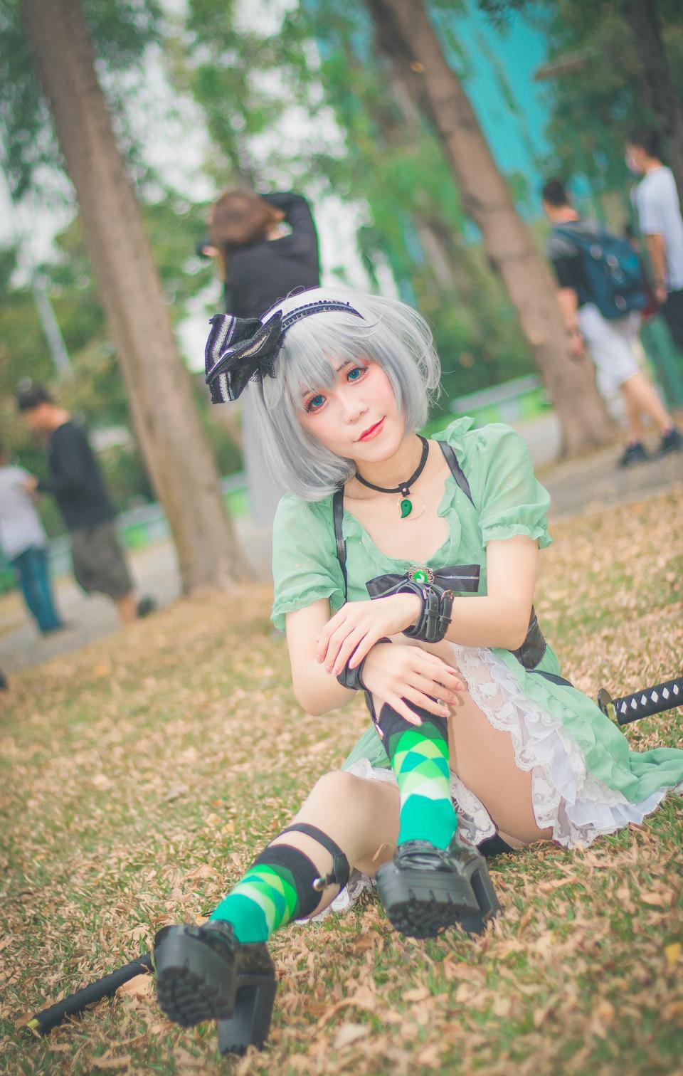 Retrato de niña de cosplay de anime de Japón