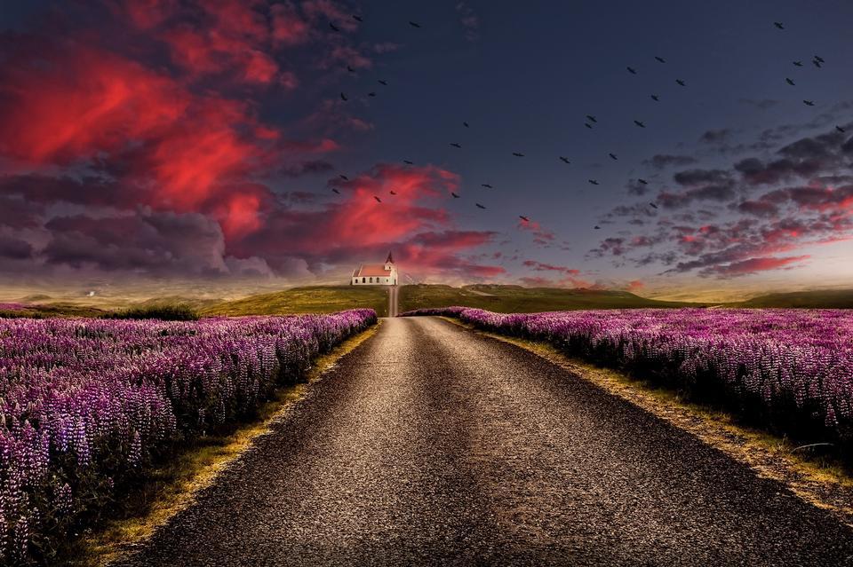une route tranquille