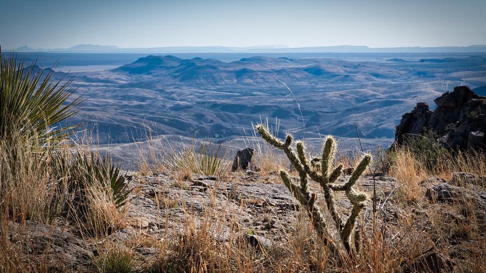 德克萨斯州的Chinati山脉
