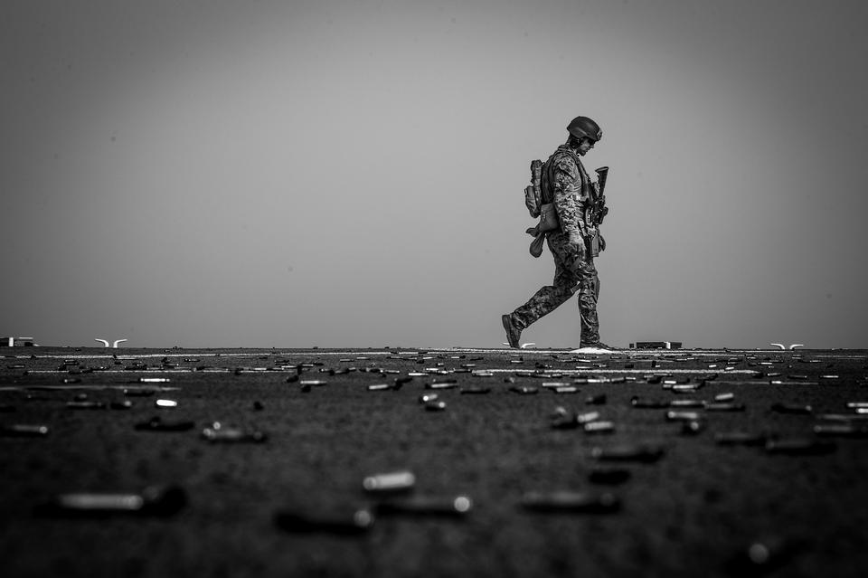 U.S. Marine with the Maritime Raid Force