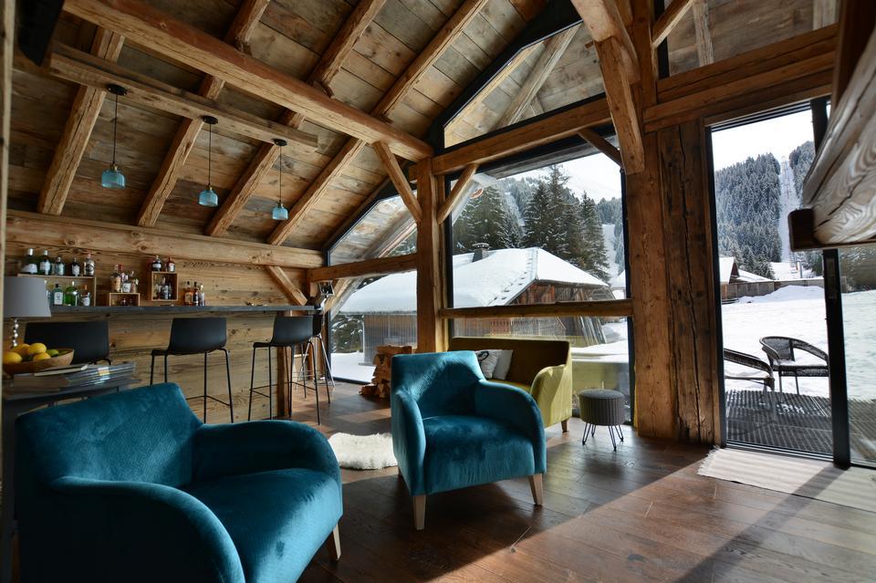 豪华生态住宅的客厅