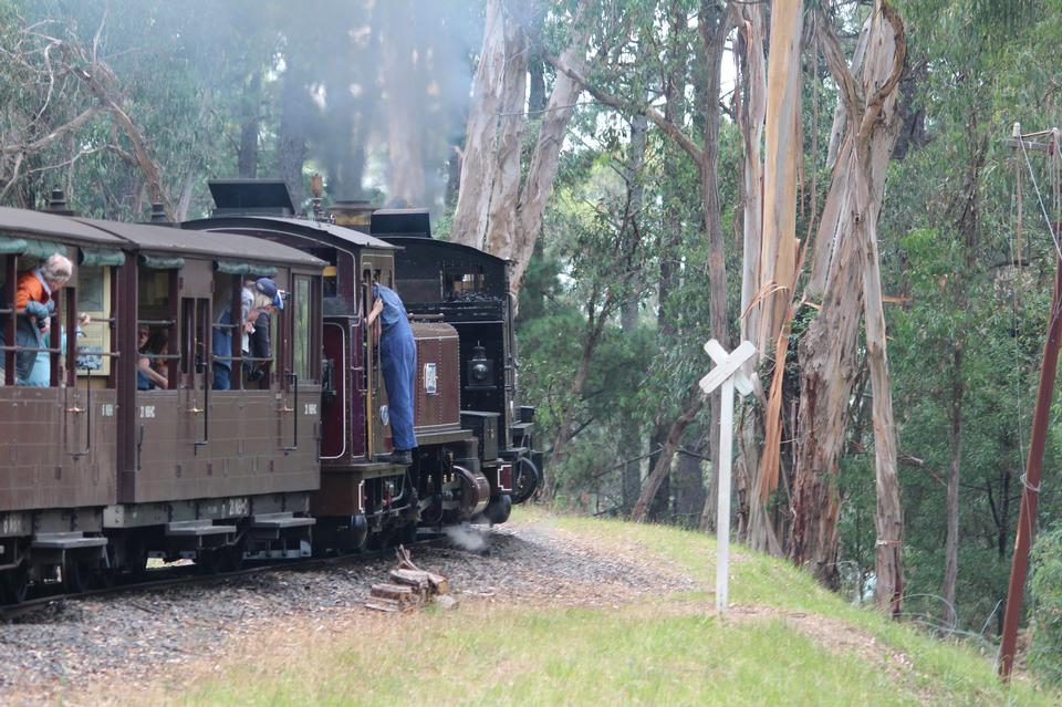 The Puffing Billy narrow gauge steam train