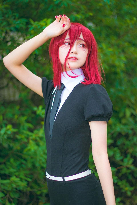 japanese style lolita maid cosplay cute girl