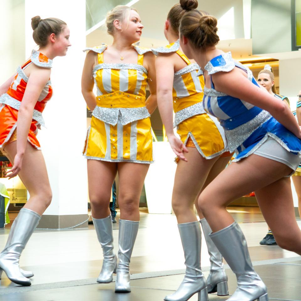 German traditional dance group Funkenmariechen in carnival