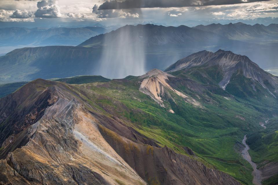 Rain in the Wrangell Mountains