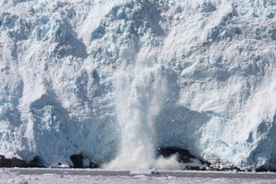 Kenai Fjords National Park calving glacier