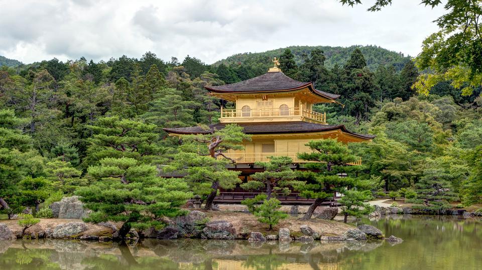 The Kinkaku-ji Temple in Kyoto, Japan