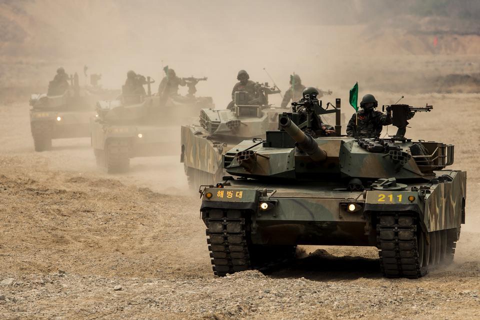 大韩民国韩国坦克与海军陆战队军队韩国
