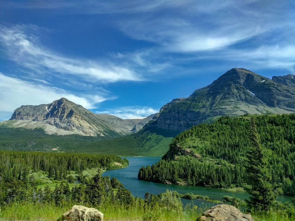 シャーバーン湖、氷河国立公園