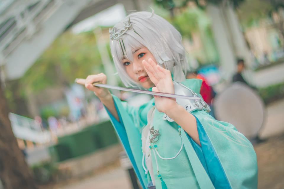 Japan anime costume girl portrait
