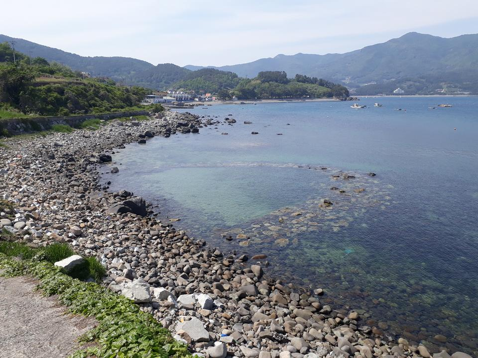 Baraegil Road in Namhae South Korea