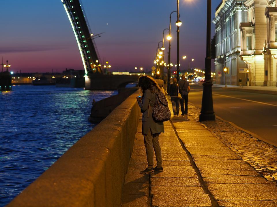 Girl on the night street